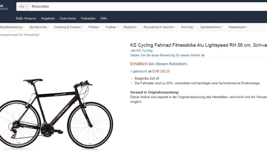 Fitnessbike gebraucht kaufen oder doch lieber neu?